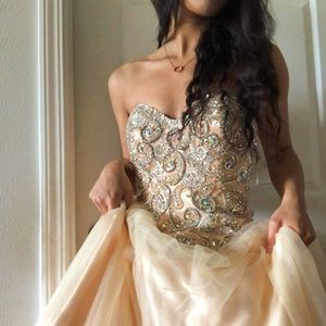 Jovani Gold/Nude Prom/Formal Dress